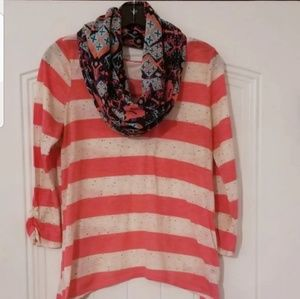 Blouse With Infinity Scarf